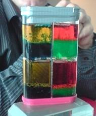 Le dispositif utilisé pour l'expérience d'écoulement