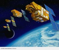 Famille des satellites Spot, de 1 à 5  - © CNES/Illus. D. Ducros