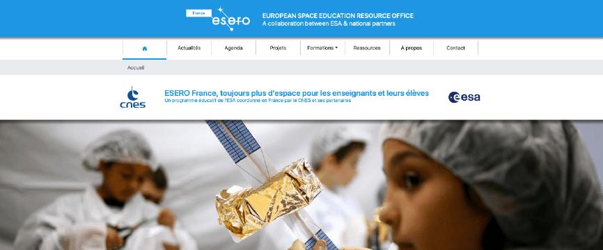 Le bureau ESERO France affiche sa présence en ligne