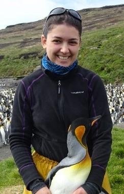 Batshéva Bonnet, chercheuse sur l'île de Crozet