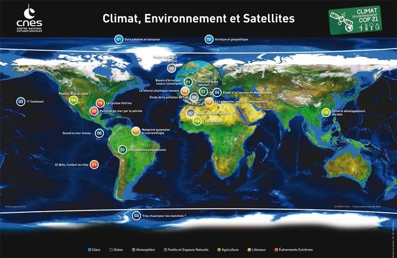 Poster mallette de support pédagogique Climat et environnement