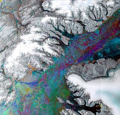 Iles de l'Arctique, image Envisat © ESA
