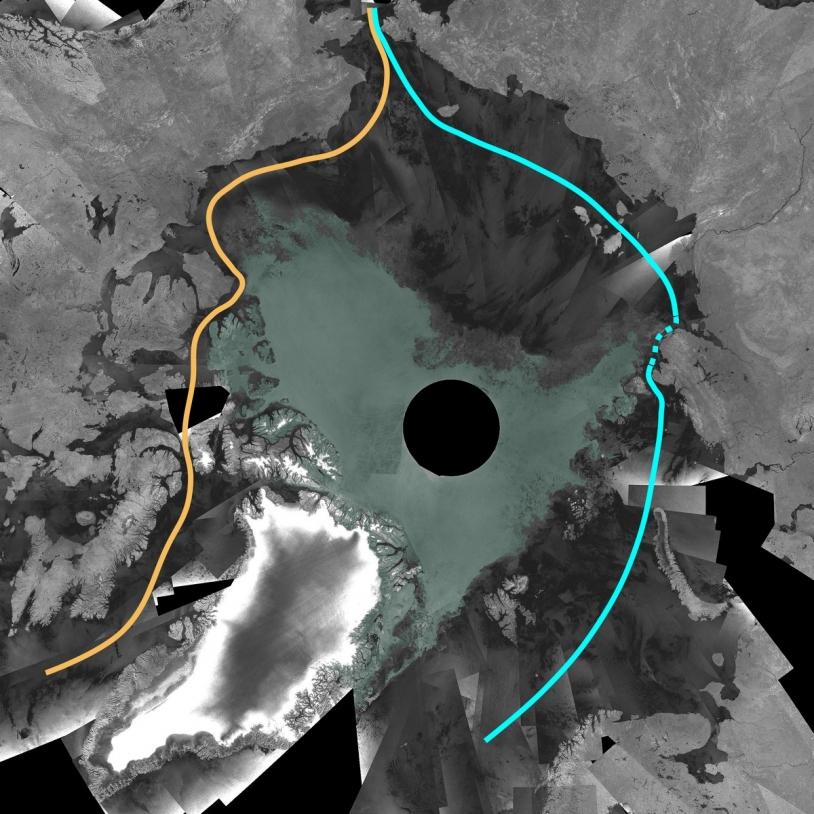 L'Arctique : mosaïques d'images Envisat/ESA